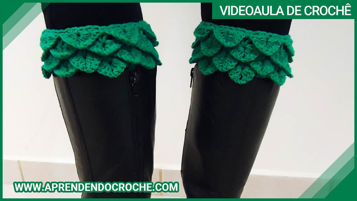 Boot Cuffs de Crochê