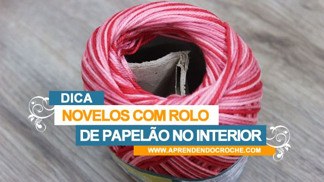 novelos com rolo de papel no interior