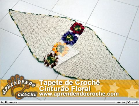 Tapete de Crochê Cinturão Floral. Nova e exclusiva vídeo aula no site!
