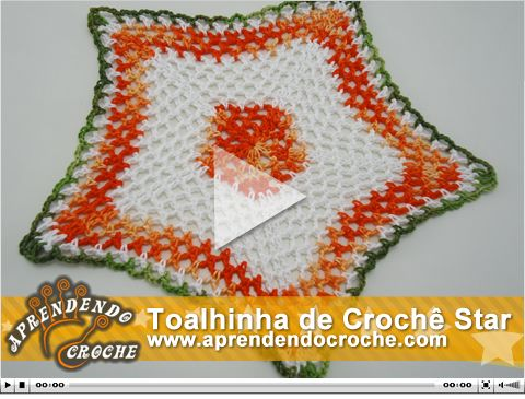 Nova vídeo aula no site! Toalhinha de Crochê Star!