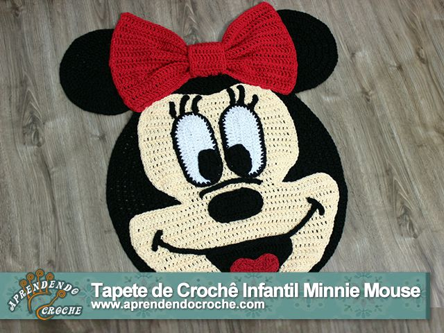 tapete de crochê minnie