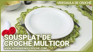 Sousplat de Crochê Multicor