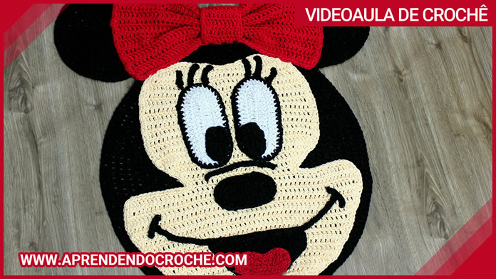 Tapete de Crochê Infantil Minnie Mouse