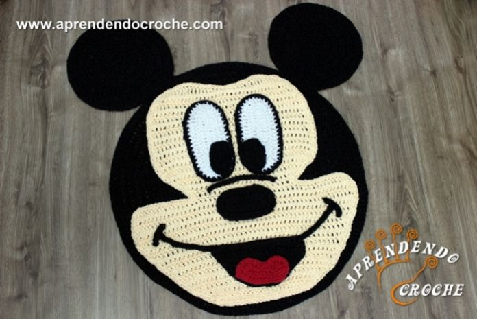 tapete de croch infantil mickey mouse