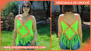 Top de Crochê Neon